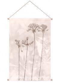 Ideasonthefloor.com Textiel Poster Sepia  Botanisch / Textiel Poster Sepia  Bladeren Bloemen Foto Schilderij