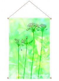 Ideasonthefloor.com Textiel Poster Groen  Botanisch / Textiel Poster Groen  Bladeren Bloemen Foto Schilderij