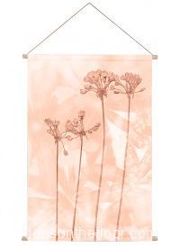 Ideasonthefloor.com Textiel Poster Oranje  Botanisch / Textiel Poster Oranje  Bladeren Bloemen Foto Schilderij