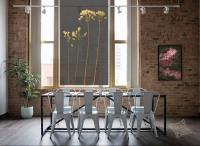 Ideasonthefloor.com Raamdecoratie Zwart Woonkamer Industrieel Raamdeco Crispy Zwart Raamdecoratie Botanisch Bladeren