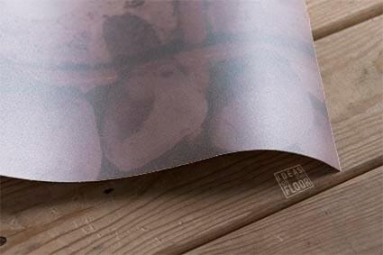 Detail zandstraalfolie